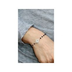 Bransoletka Spinel srebro mandala. Czarne bransoletki damskie na nogę Brazi druse jewelry, srebrne. Za 150,00 zł.