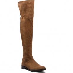 Muszkieterki EVA MINGE - Torremoli 4N 18BD1372650EF 804. Brązowe buty zimowe damskie Eva Minge, z materiału, przed kolano, na wysokim obcasie, na obcasie. Za 749,00 zł.