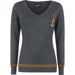 Swetry klasyczne damskie: Harry Potter Gryffindor Sweter damski odcienie szarego
