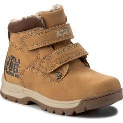 Buty zimowe chłopięce: Trapery ACTION BOY – CP07-17011-02 Miodowy