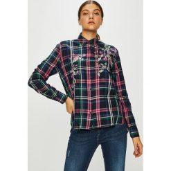 Pepe Jeans - Koszula Sonia. Szare koszule damskie w kratkę Pepe Jeans, l, z bawełny, casualowe, z klasycznym kołnierzykiem, z długim rękawem. Za 319,90 zł.