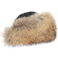 Czapka damska. Brązowe czapki zimowe damskie Ochnik, na zimę, z futra. Za 599,90 zł.