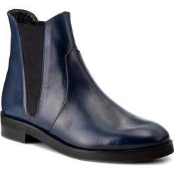 Sztyblety BALDOWSKI - W00202-DIAN-001 Niebieska Przecierka. Niebieskie buty zimowe damskie Baldowski, ze skóry, na obcasie. W wyprzedaży za 339,00 zł.