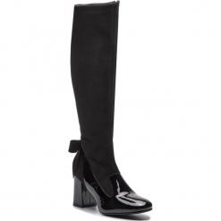 Kozaki SAGAN - 3295 Czarny Lakier/CzarnyWelur. Czarne buty zimowe damskie marki Kazar, ze skóry, przed kolano, na wysokim obcasie, na obcasie. Za 449,00 zł.