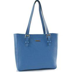 Torebki klasyczne damskie: Skórzana torebka w kolorze niebieskim – (S)40 x (W)30 x (G)13 cm