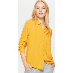 Gładka koszula - Żółty. Żółte koszule damskie Cropp, l. Za 49,99 zł.