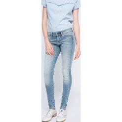 Pepe Jeans - Jeansy. Niebieskie jeansy damskie rurki Pepe Jeans, z obniżonym stanem. W wyprzedaży za 299,90 zł.