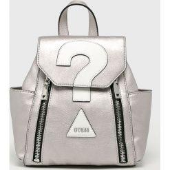 Guess Jeans - Plecak. Szare plecaki damskie Guess Jeans, z bawełny. Za 559,90 zł.