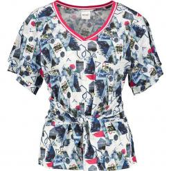 Koszulka z kolorowym wzorem. Szare t-shirty damskie marki Taifun, w kolorowe wzory. W wyprzedaży za 65,95 zł.