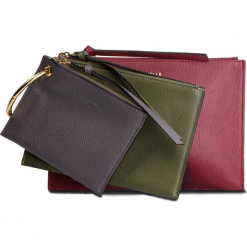Torebka COCCINELLE - CV1 Envelopes E5 CV1 19 A5 07  Grape/Caper/Fum 772. Czerwone torebki klasyczne damskie Coccinelle, ze skóry. Za 649,90 zł.