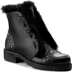 Botki EVA MINGE - Nieves 2B 17JS1372268EF 101. Czarne buty zimowe damskie Eva Minge, z materiału, na obcasie. W wyprzedaży za 349,00 zł.