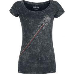 Star Trek Space Koszulka damska ciemnoszary. Szare bluzki nietoperze Star Trek, xxl, z nadrukiem, retro, z dekoltem w łódkę. Za 99,90 zł.