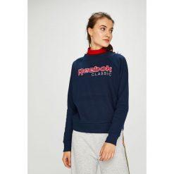Reebok Classic - Bluza. Szare bluzy z nadrukiem damskie Reebok Classic, l, z bawełny, bez kaptura. Za 249,90 zł.