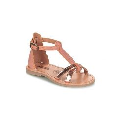 Sandały Dziecko  Citrouille et Compagnie  GUBUDU. Czerwone sandały dziewczęce marki Born2be, z materiału, z otwartym noskiem, na zamek. Za 159,00 zł.