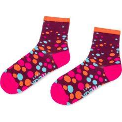 Skarpety Wysokie Damskie FREAK FEET - LGRO-FPI Bordowy Różowy. Czerwone skarpetki damskie Freak Feet, z bawełny. Za 19,99 zł.