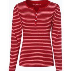 Brookshire - Damska koszulka z długim rękawem, różowy. Zielone t-shirty damskie marki bonprix, z kołnierzem typu henley. Za 99,95 zł.
