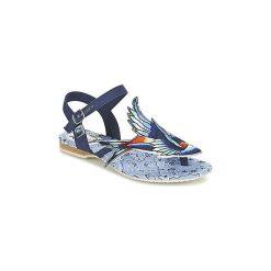 Sandały Miss L'Fire  BLUEBIRD. Niebieskie sandały damskie Miss L'Fire. Za 265,30 zł.