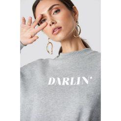 NA-KD Bluza Darlin' - Grey. Szare długie bluzy damskie NA-KD, z materiału. Za 121,95 zł.