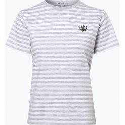 Marie Lund - T-shirt damski, szary. Szare t-shirty damskie Marie Lund, xxl, z aplikacjami, z klasycznym kołnierzykiem. Za 59,95 zł.