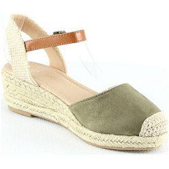 Sandały damskie: Sandały na koturnie w kolorze khaki