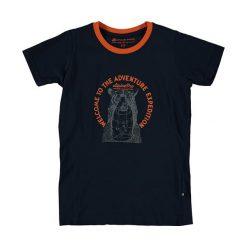 """T-shirty chłopięce: Koszulka """"Unego"""" w kolorze granatowo-pomarańczowym"""
