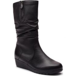 Kozaki RIEKER - X2471-00 Schwarz. Czarne buty zimowe damskie marki Rieker, z materiału. Za 349,00 zł.