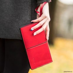 Portfele damskie: PORTFEL DAMSKI QUILL SPONKA Czerwona