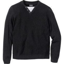 Swetry męskie: Sweter Slim Fit bonprix antracytowy melanż