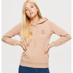 Bluza hoodie - Beżowy. Brązowe bluzy damskie marki Calvin Klein Jeans, xl, z bawełny. Za 69,99 zł.