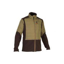 Kurtka myśliwska SG500 HYBRID. Brązowe kurtki męskie marki LIGNE VERNEY CARRON, m, z bawełny. Za 149,99 zł.
