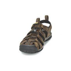 Sandały sportowe Keen  CLEARWATER CNX LEATHER. Brązowe sandały męskie marki Keen. Za 383,20 zł.