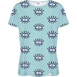 Colour Pleasure Koszulka damska CP-030 112 niebieska r. XS/S. Niebieskie bluzki damskie marki Colour pleasure, s. Za 70,35 zł.