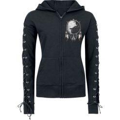 Bluzy damskie: Spiral Wolf Chi Bluza z kapturem rozpinana damska czarny
