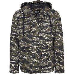 Kurtki męskie bomber: Urban Classics Tiger Camo Cotton Jacket Kurtka czarny/oliwkowy/biały