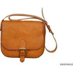 Torebka Juliett - kolor koniak. Pomarańczowe torebki klasyczne damskie Pakamera, ze skóry. Za 299,00 zł.