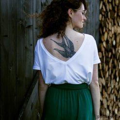 Bluzki damskie: Bluzka V-NECK biała
