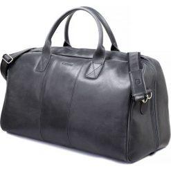 Torby na ramię męskie: GERONE Grafitowa męska torba ze skóry Podróżna smooth leather