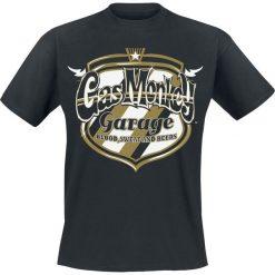 T-shirty męskie z nadrukiem: Gas Monkey Garage Texan Gold Badge T-Shirt czarny