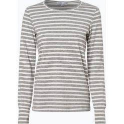 Marie Lund - Damska koszulka z długim rękawem, szary. Szare t-shirty damskie Marie Lund, l, prążkowane, z klasycznym kołnierzykiem. Za 89,95 zł.