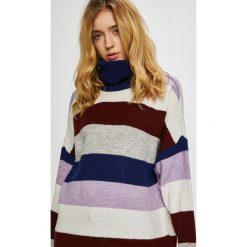 Only - Sweter. Szare golfy damskie marki ONLY, s, z bawełny, z okrągłym kołnierzem. Za 169,90 zł.
