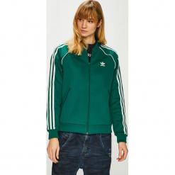 Adidas Originals - Bluza. Szare bluzy z kieszeniami damskie adidas Originals, z bawełny, bez kaptura. Za 279,90 zł.