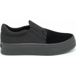 Calvin Klein Jeans - Tenisówki. Czarne tenisówki damskie Calvin Klein Jeans, z gumy. Za 399,90 zł.