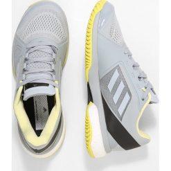 Adidas by Stella McCartney BARRICADE BOOST Obuwie multicourt egg grey/aerlim/chalk black. Szare buty do tenisu damskie adidas by Stella McCartney, z materiału. W wyprzedaży za 401,40 zł.