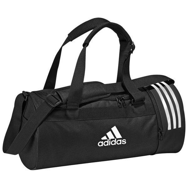 4f4afd2b3b293 Adidas Adidas Torba Convertible 3 Stripes Duffel Bag Small Black ...