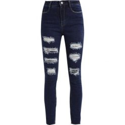 Rurki damskie: Missguided SINNER EXTREME RIPPED  Jeans Skinny Fit blue