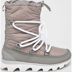 Sorel - Śniegowce Kinetic Boot. Szare śniegowce damskie Sorel, z kauczuku. W wyprzedaży za 599,90 zł.