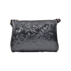 Torebki klasyczne damskie: Skórzana torebka w kolorze czarnym – (S)24 x (W)18 x (G)2 cm