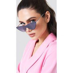 Okulary przeciwsłoneczne damskie aviatory: NA-KD Urban Okulary przeciwsłoneczne z metalowymi oprawkami - Black
