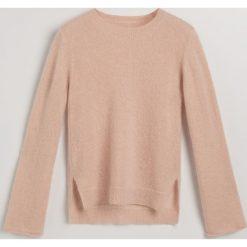 Sweter z moherem - Beżowy. Brązowe swetry klasyczne damskie marki Reserved, l, z moheru. Za 299,99 zł.