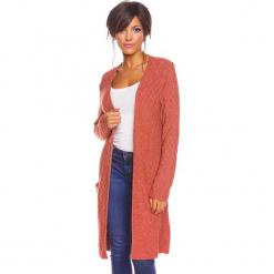 """Kardigan """"Ema"""" w kolorze rdzawym. Brązowe kardigany damskie marki So Cachemire, s, z kaszmiru. W wyprzedaży za 173,95 zł."""